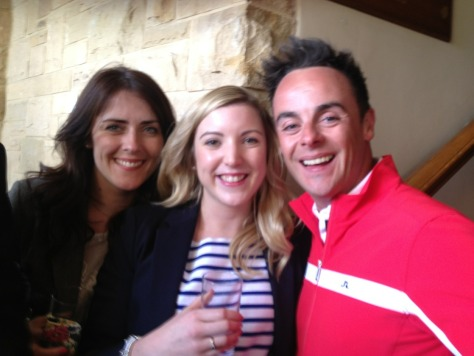 Kate and I hanging out with Ant...