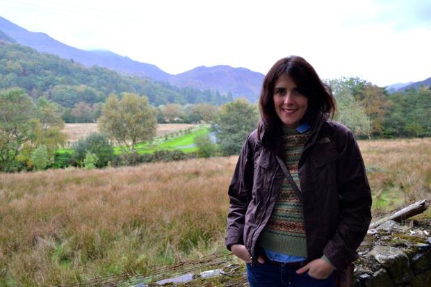 Kate enjoying the stunning Snowdonia views