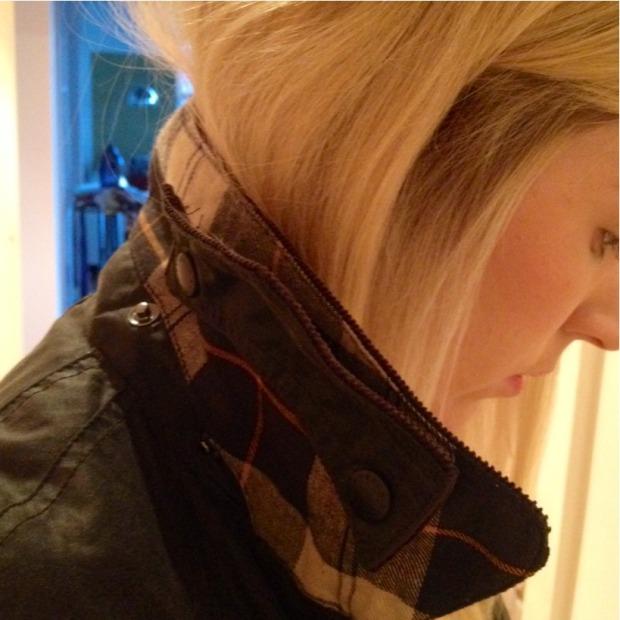 Corduroy collar