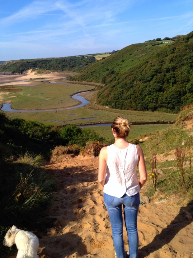 View over Three Cliffs Bay