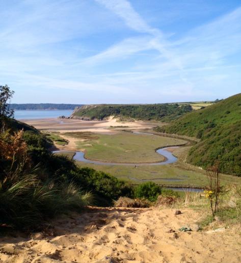 Stunning Three Cliffs Bay