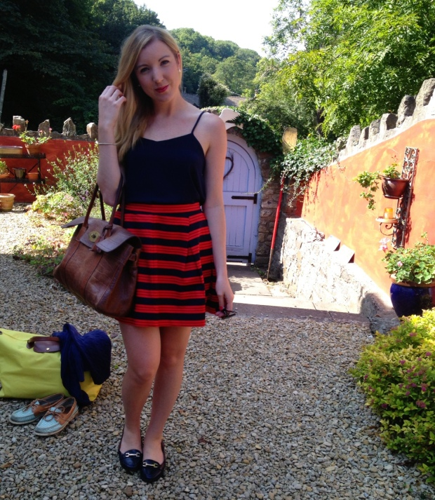 British Prep - Red and Navy skirt
