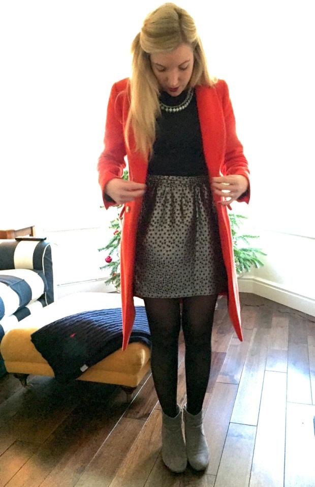 Metallic skirt from Forever 21