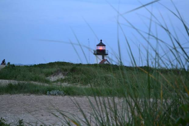 Brant Point Lighthouse at night